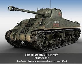 Sherman MK VC Firefly - Tryniec 3D