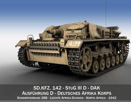 StuG III - Ausf D - DAK 3D Model