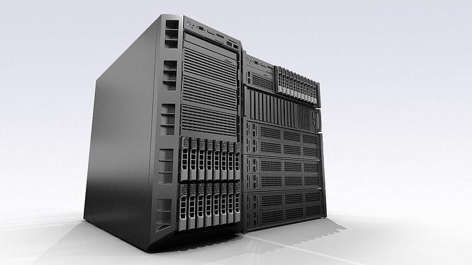 dell servers 3d model max 1