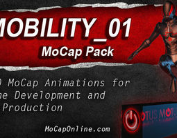 mobility - mocap animation pack 3d model low-poly animated
