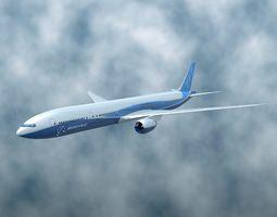 Boeing 777-300 ER airliner 3D model
