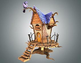 3D asset Low Poly Creepy House