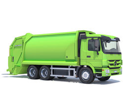 3D model Mercedes Actros Garbage Truck