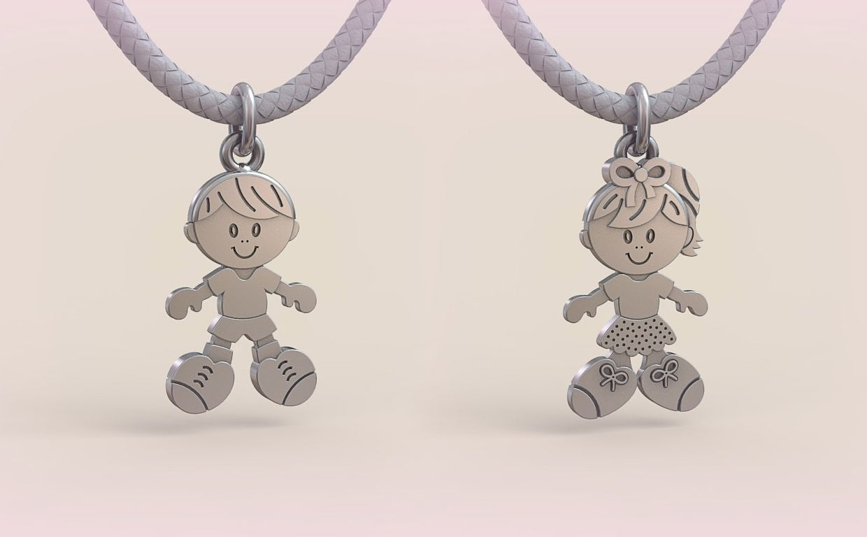Pendant Boy and Girl 05