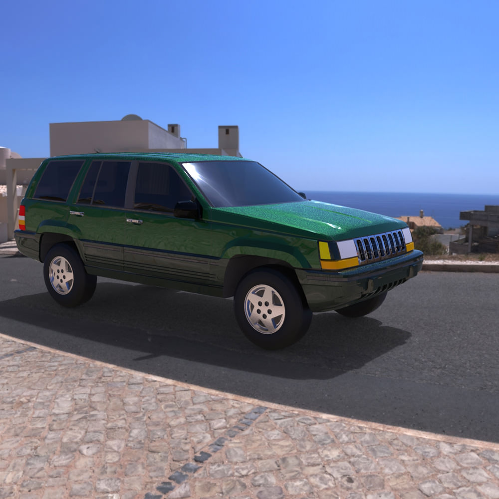 Jeep Grand Cherokee 94 3d Model Obj