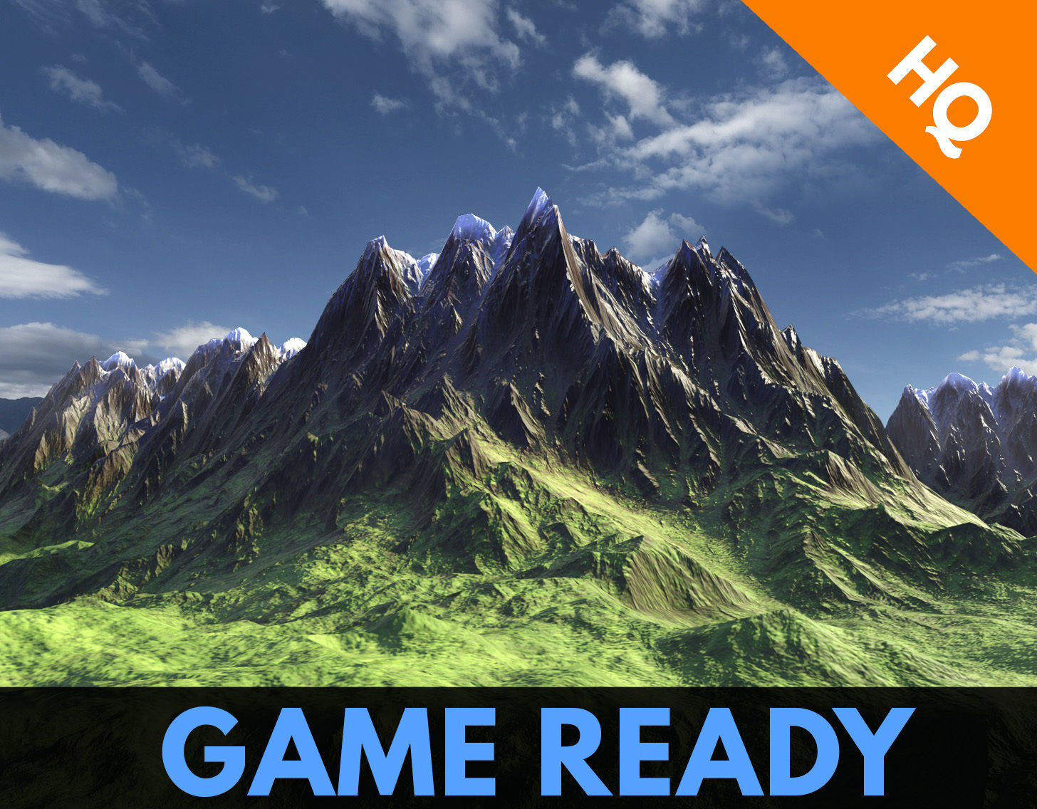 Low Poly Modular Mountain Model PBR Unity Game Ready 03