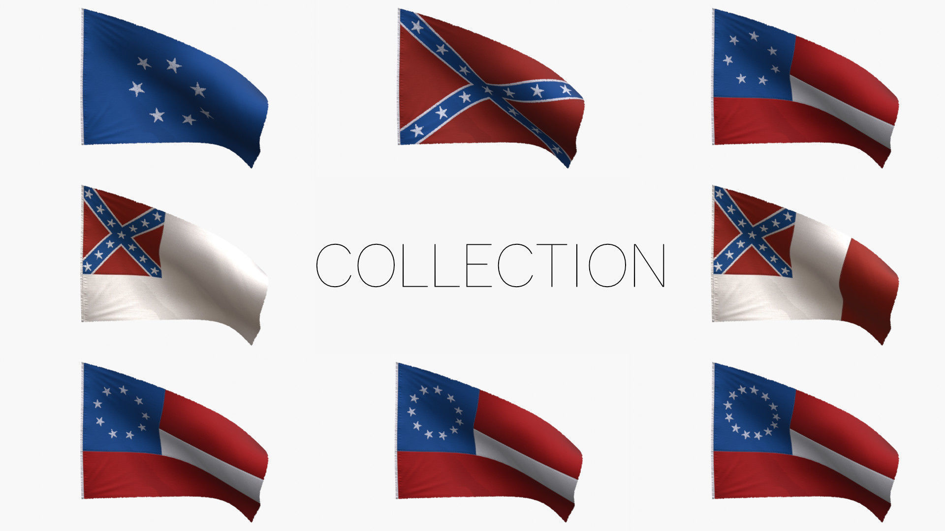 Confederacy Flags Collection
