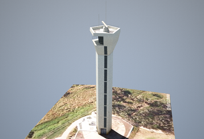 point cartwright lighthouse low poly 3d model obj 3ds dae skp mtl 1