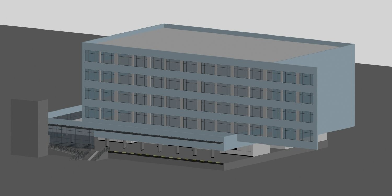 City planning office building fashion desi 3d model max for 3d office planner