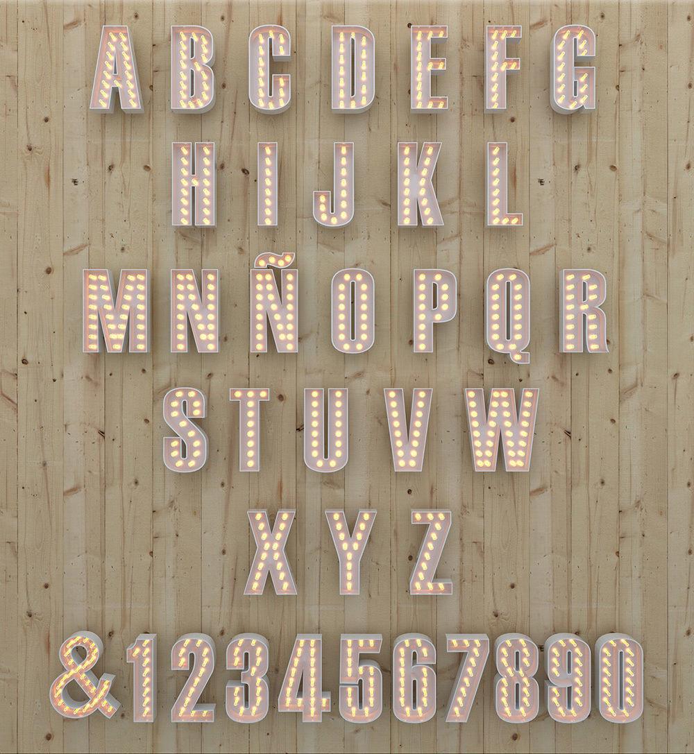 Light Bulb Alphabet