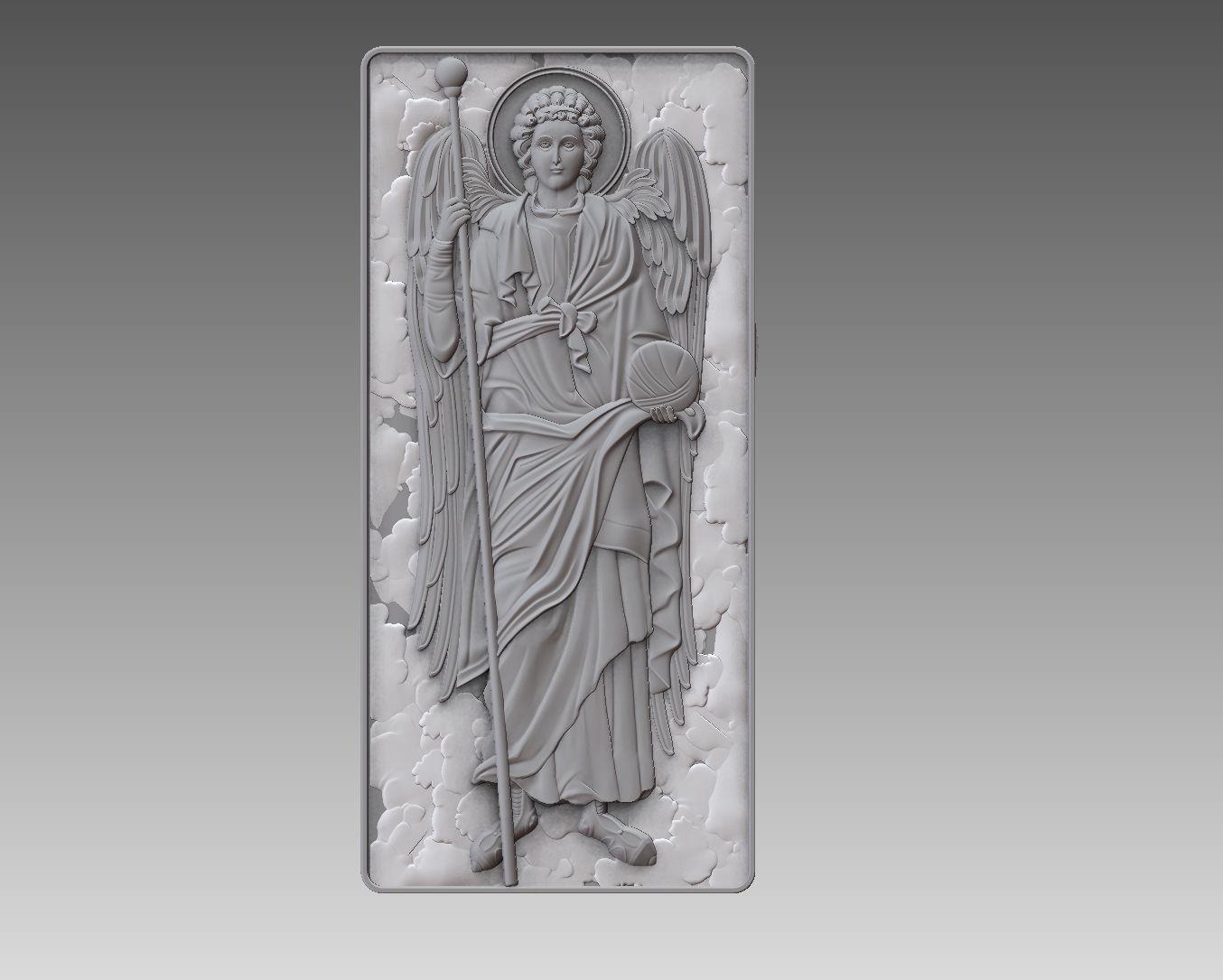 Archangel Gabriel angel cnc  ORTHODOX CATHOLIC Relief