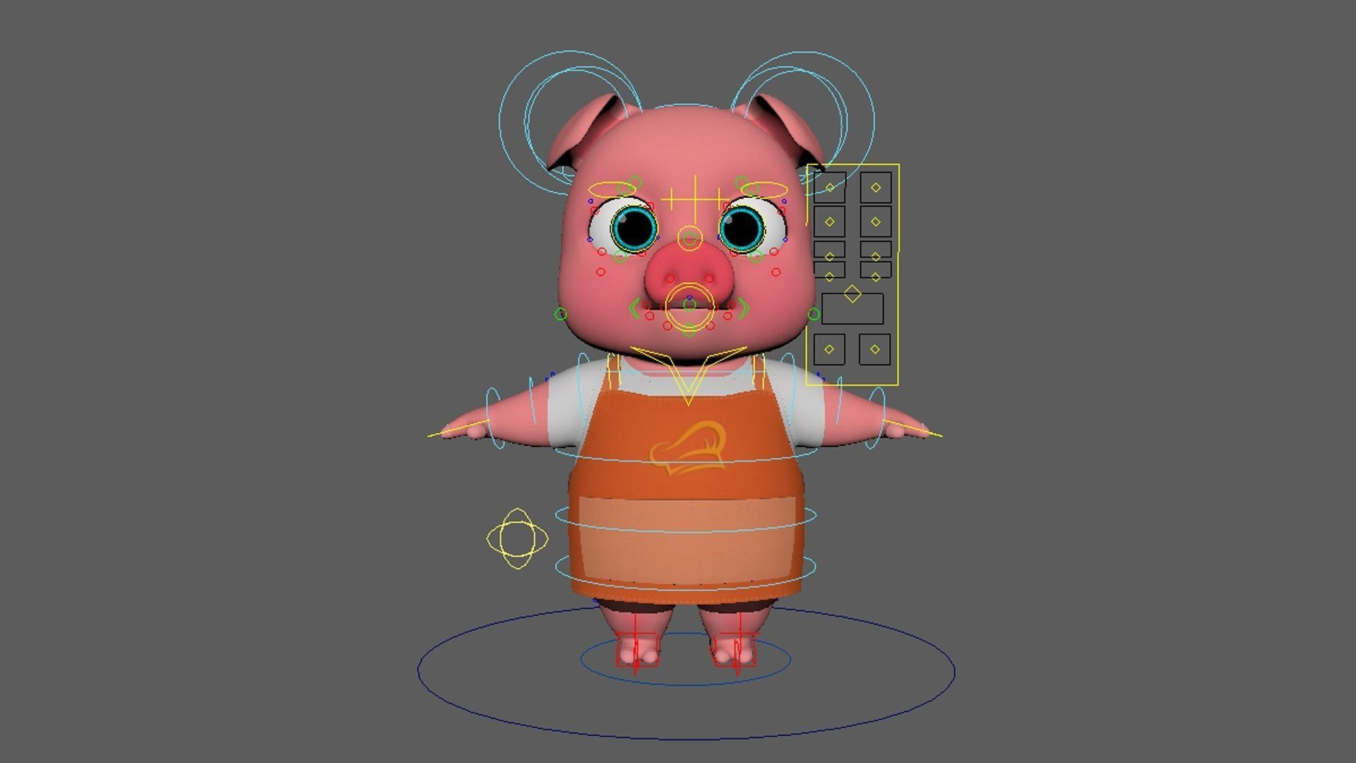 Asset - Cartoons - Animal - Pig - Rig