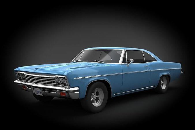 chevrolet impala ss 66 3d model low-poly max obj fbx mtl 1