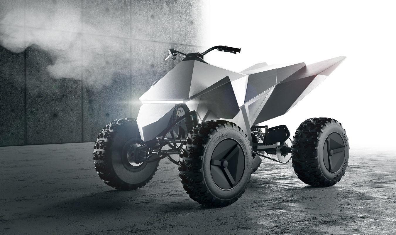 3D Tesla cyberquad ATV | CGTrader