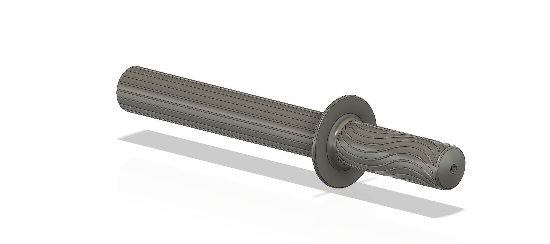 A real paddle handle d32 for a rowing boat for 3d print cnc