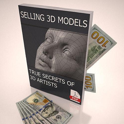 selling 3d models true secrets of 3d artists book 3d model low-poly max obj mtl 3ds c4d pdf 1