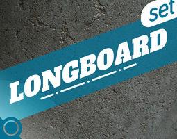 LONGBOARD SET  3D Model