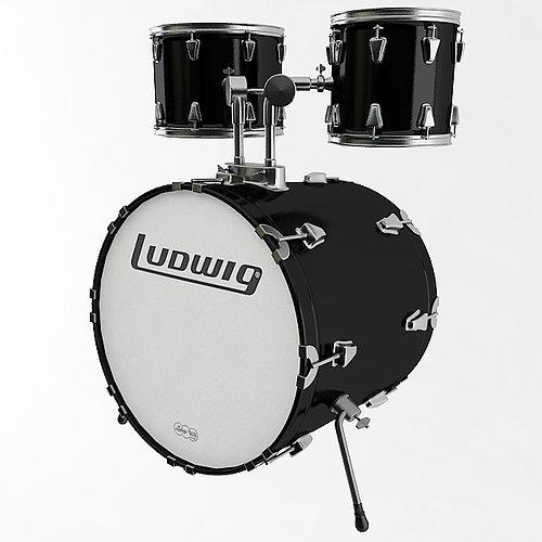 bass drum 3d model max obj mtl 3ds fbx wrl wrz tga 1