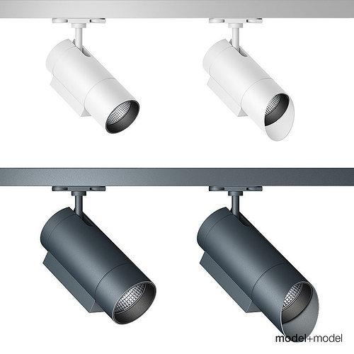 zumtobel track spotlight system 3d model rigged max obj mtl fbx mat 1