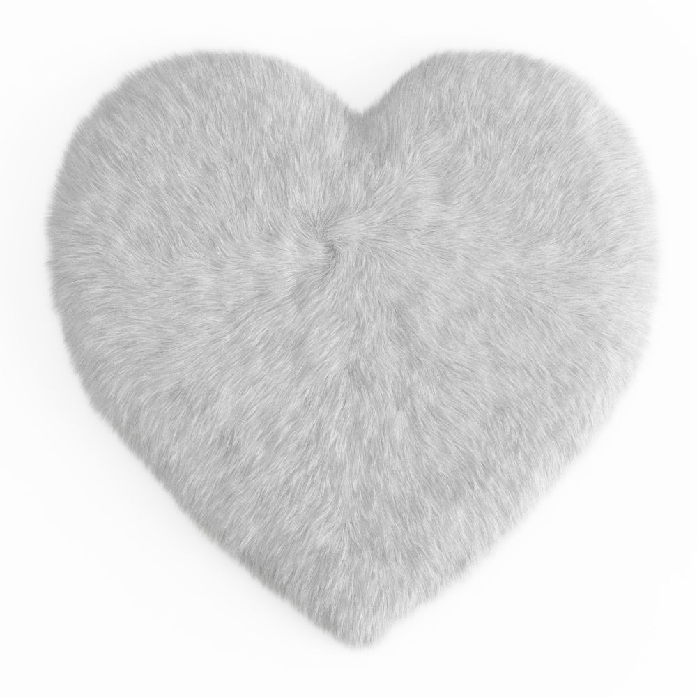Sheepskin Heart Shaped Carpet Fur