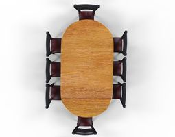 3D asset dining table