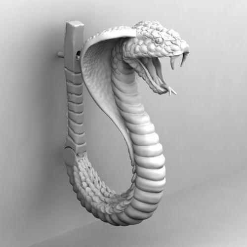 Cobra Snake Earing 3D Model 3D Printable .stl