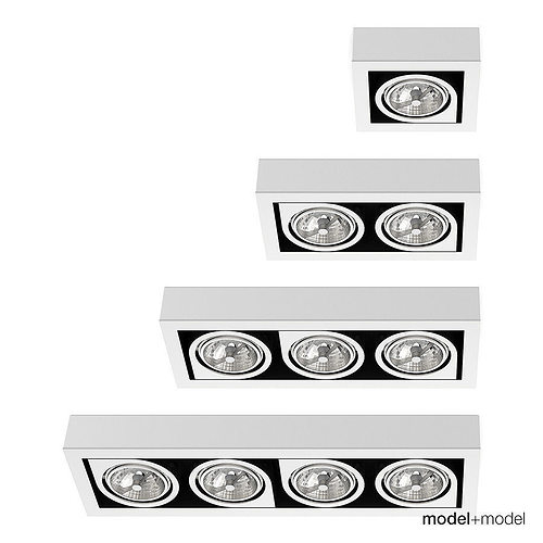 vibia corner spotlights 3d model rigged max obj mtl fbx mat 1