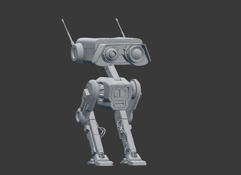 3d Print Model Bd 1 Droid Star Wars High Quality