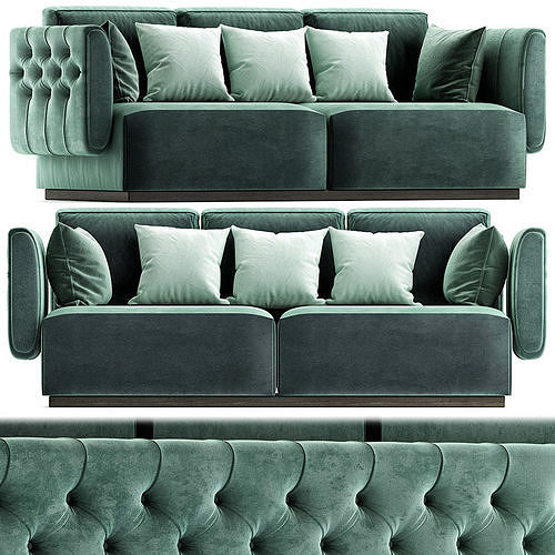 Tufted leather sofa SIMON By OPERA CONTEMPORARY 3d model