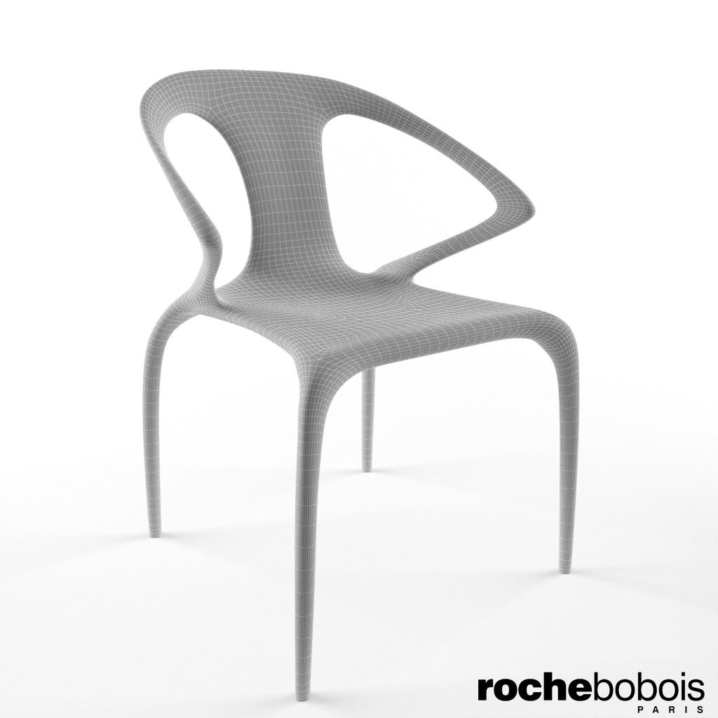 roche bobois ava chair 3d model max. Black Bedroom Furniture Sets. Home Design Ideas