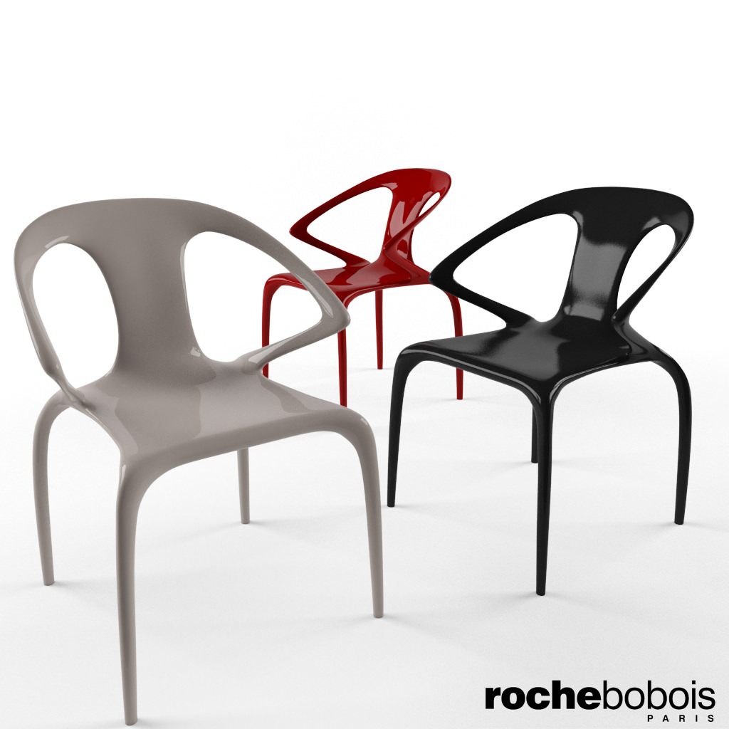roche bobois ava chair 3d model max. Black Bedroom Furniture Sets. Home Design Ideas