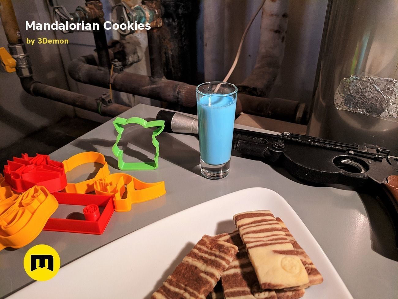 Mandalorian Cookie Cutters with Yoda