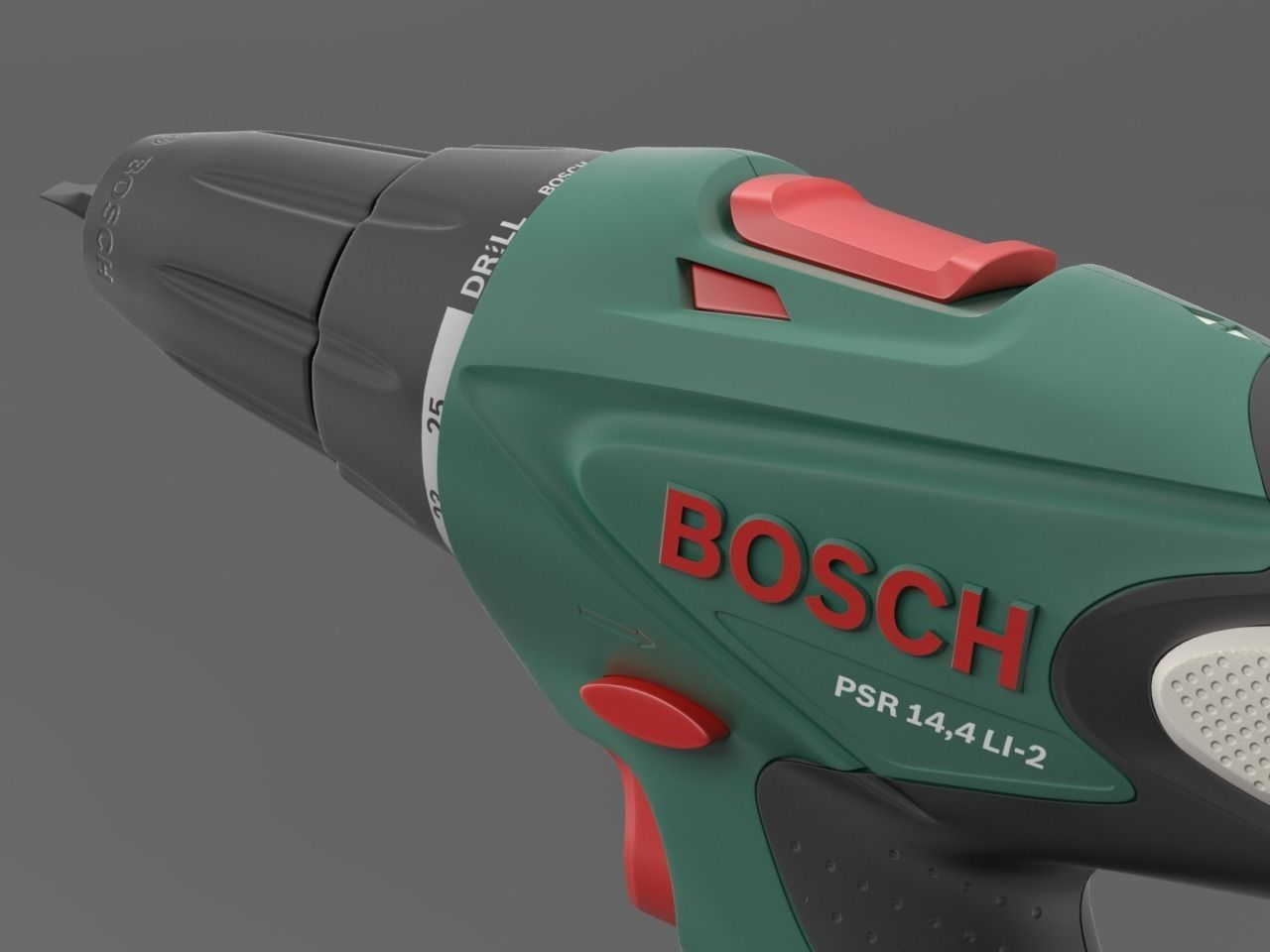 cordless drill screwdriver bosch psr 14 4 3d model max obj. Black Bedroom Furniture Sets. Home Design Ideas