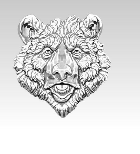 Detailed Realistic Bear Grizzly Relief