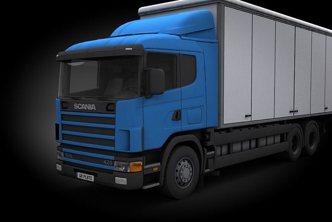scania 3d model low-poly max obj mtl fbx 1