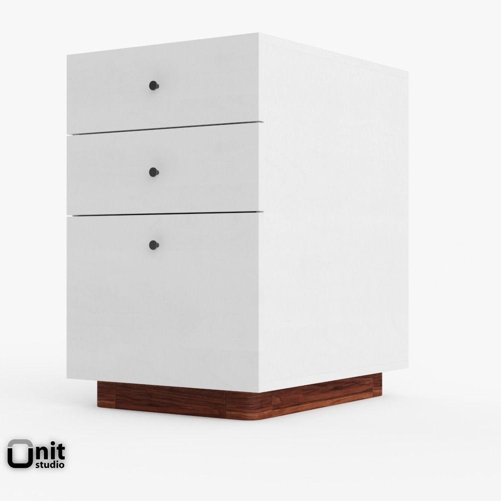 modern file cabinet by west elm d model max obj ds fbx dwg - modern file cabinet by west elm d model max obj ds fbx dwg