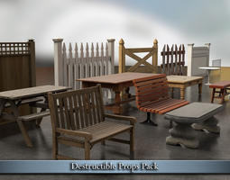 Destructible Props Pack 3D asset