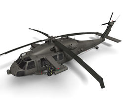 UH-60M Battlehawk 3D Model