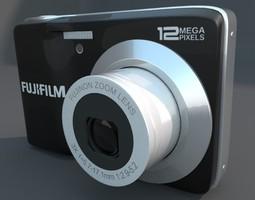 fuji av 100 digital camera 3d model obj fbx blend