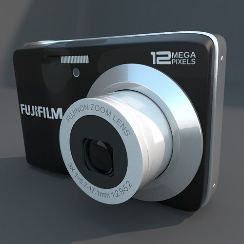 fuji av 100 digital camera 3d model obj fbx blend mtl 1
