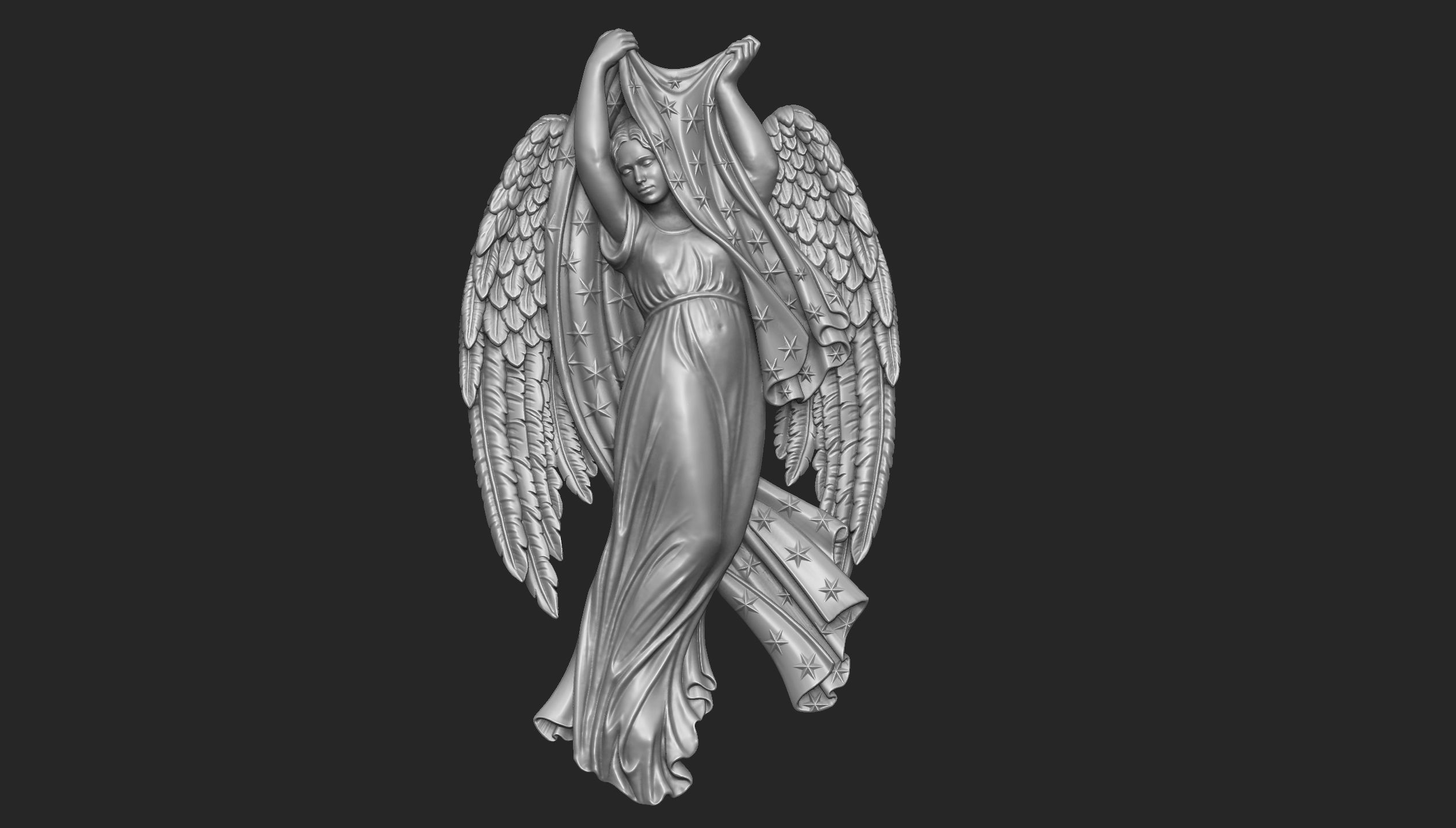 Night Angel Bas-Relief