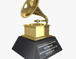 grammy award 3d model