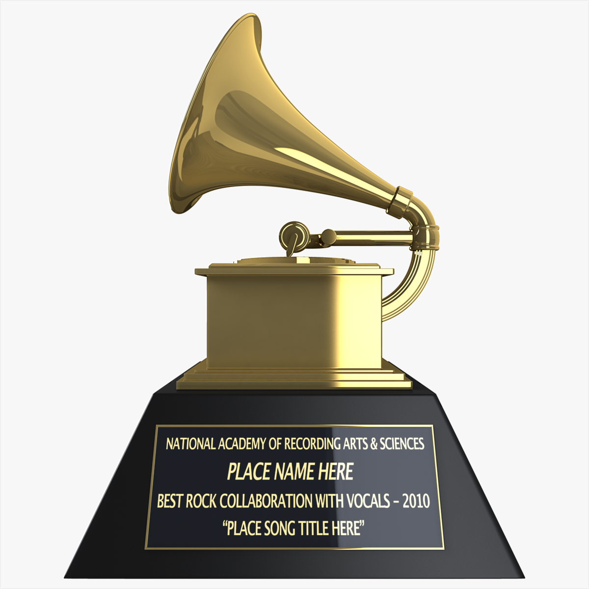 Grammy Award 3D Model .max .obj .3ds .c4d .lwo .lw .lws ...