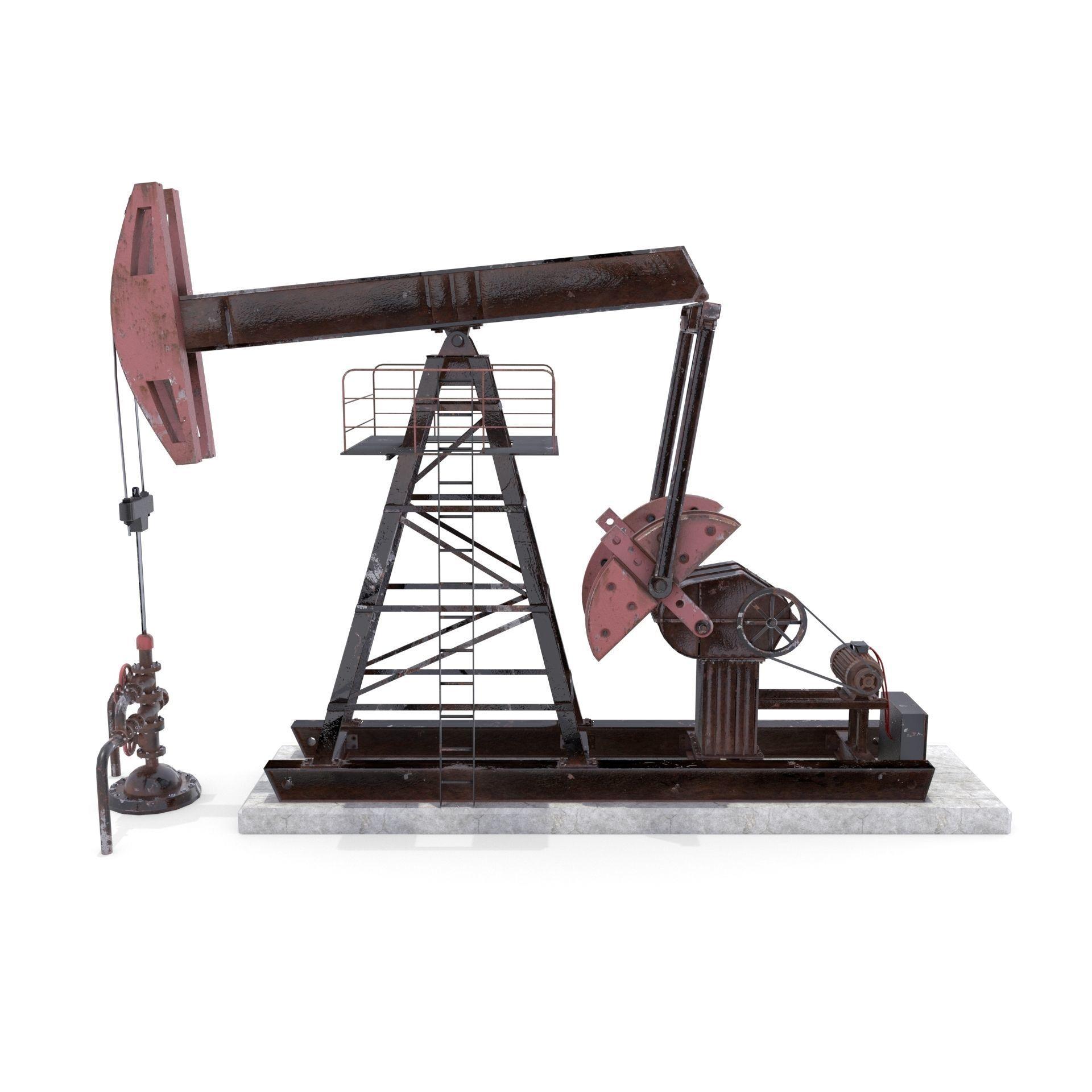 Oil Pumpjack  Weathered 2