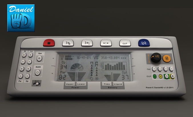 electric control panel 3d model obj mtl ma mb 1