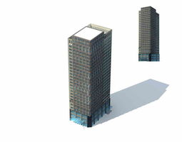 Large City Commercial Street office building design  239 3D Model