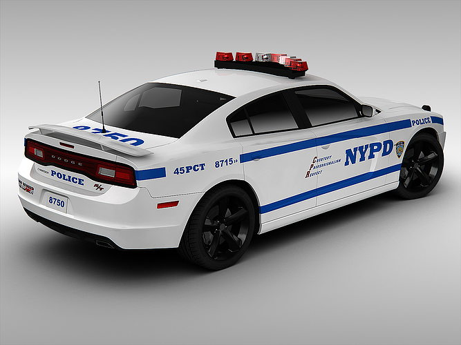 Dodge Charger Nypd Police Car 2013 3d Model Max Obj 3ds