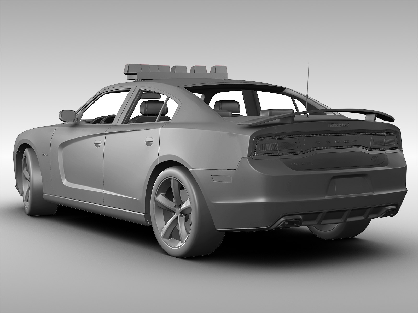 Dodge Charger NYPD Police Car 2013 3D Model .max .obj .3ds ...
