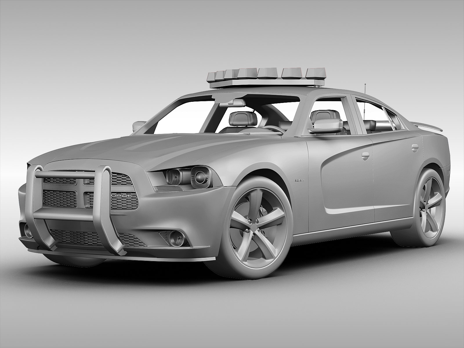 Dodge Charger NYPD Police Car 2013 3D Model MAX OBJ 3DS ...