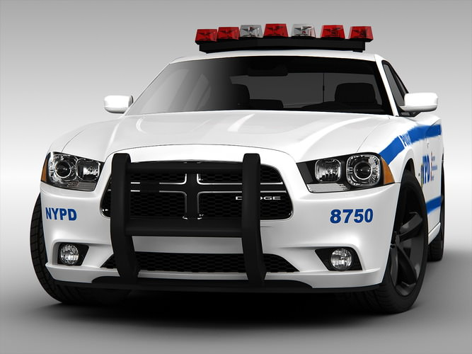 Dodge Charger Nypd Police Car 2013 3d Models Cgtrader Com